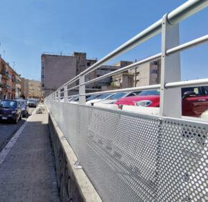 Parapetto parcheggio alluminio